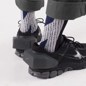 Nozzle Quiz-LANDING Midcalf Socks-Black Sand